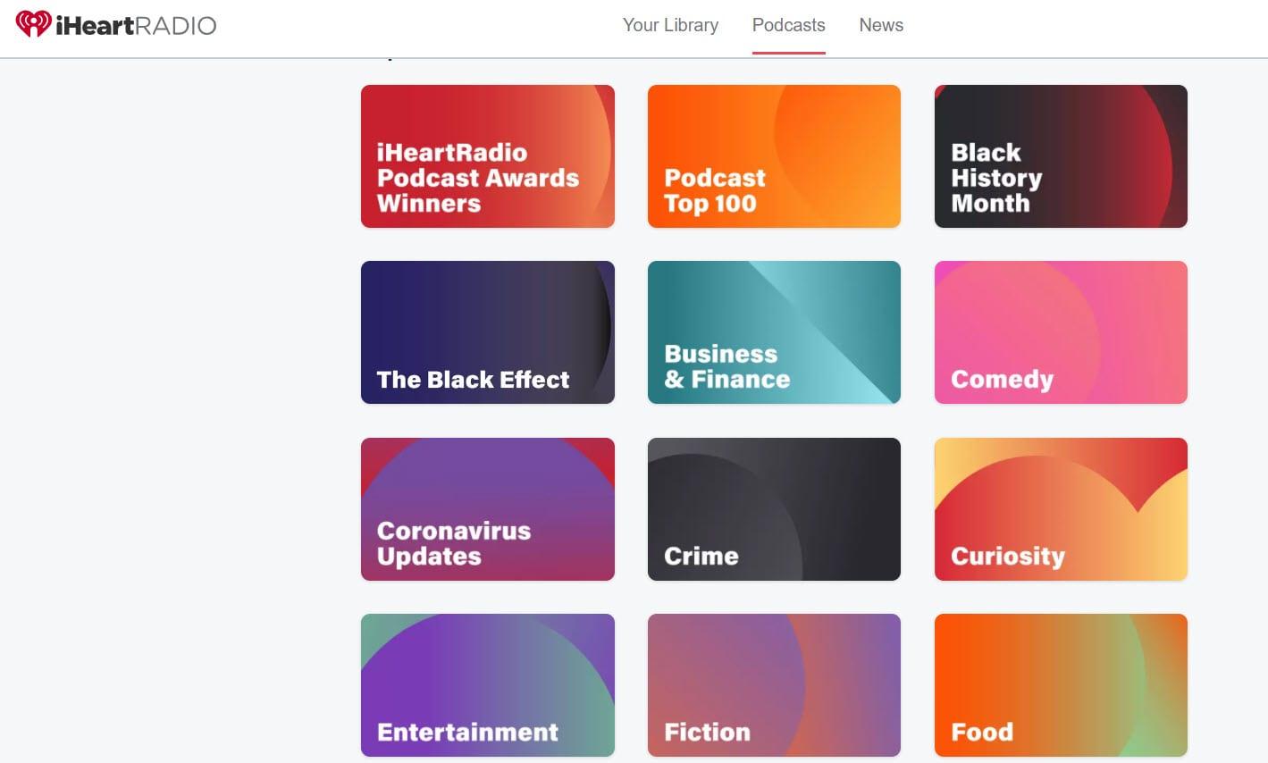 Grid website layout