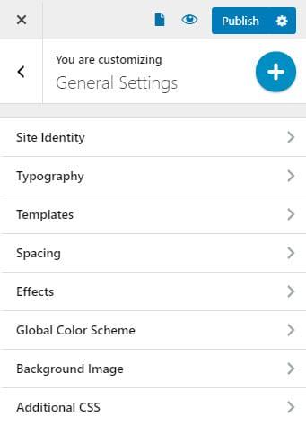 Global typography settings in WordPress