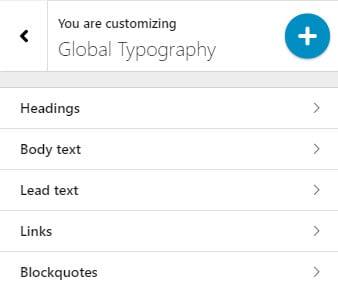 Change footer block typography in WordPress