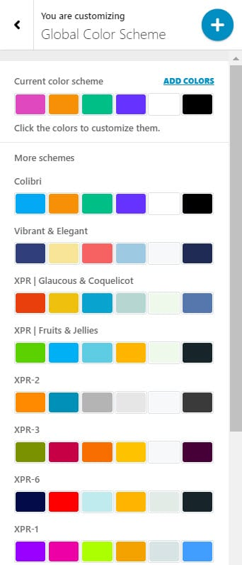 changing the fonts global color scheme in WordPress