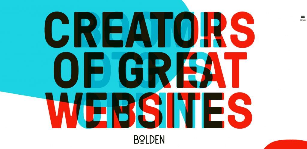 Homepage design - example 1