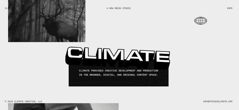 Homepage design - example 2