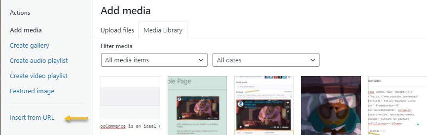 Add media by URL