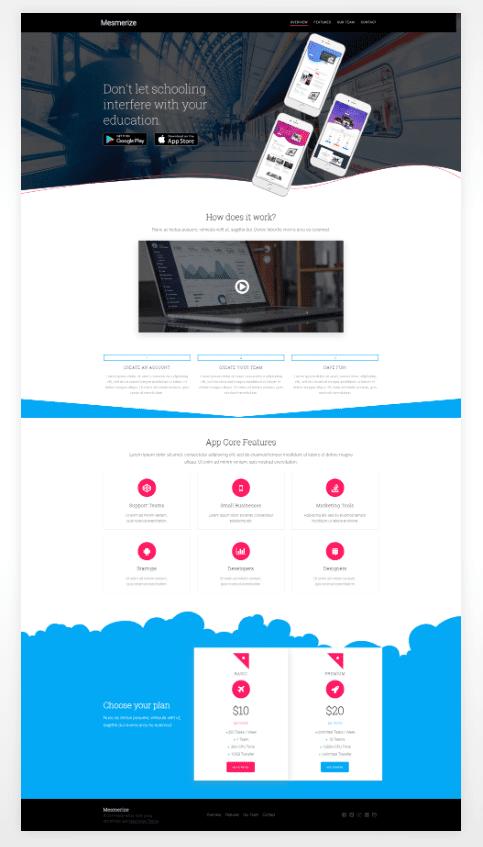 website design ideas - section separators