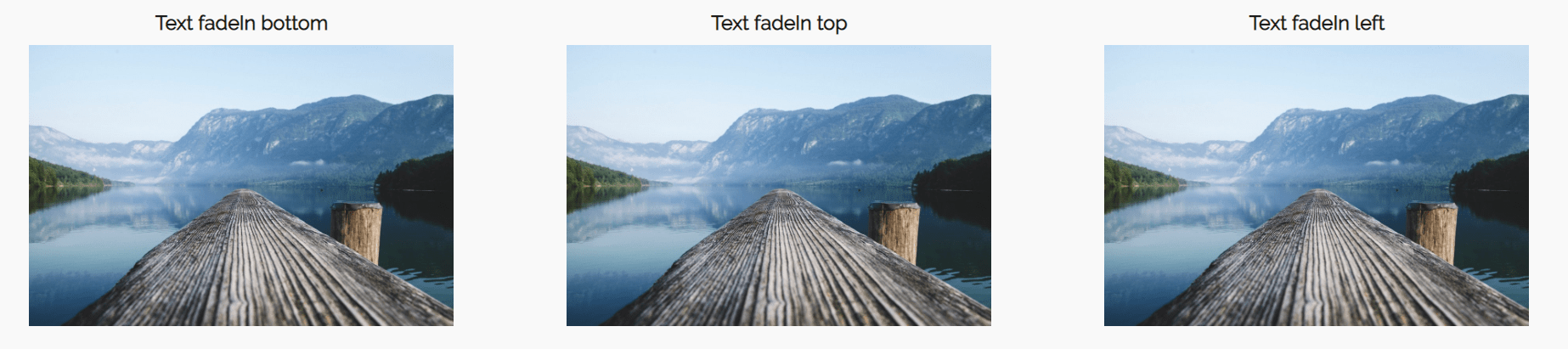 website design ideas - image overlay hover effects