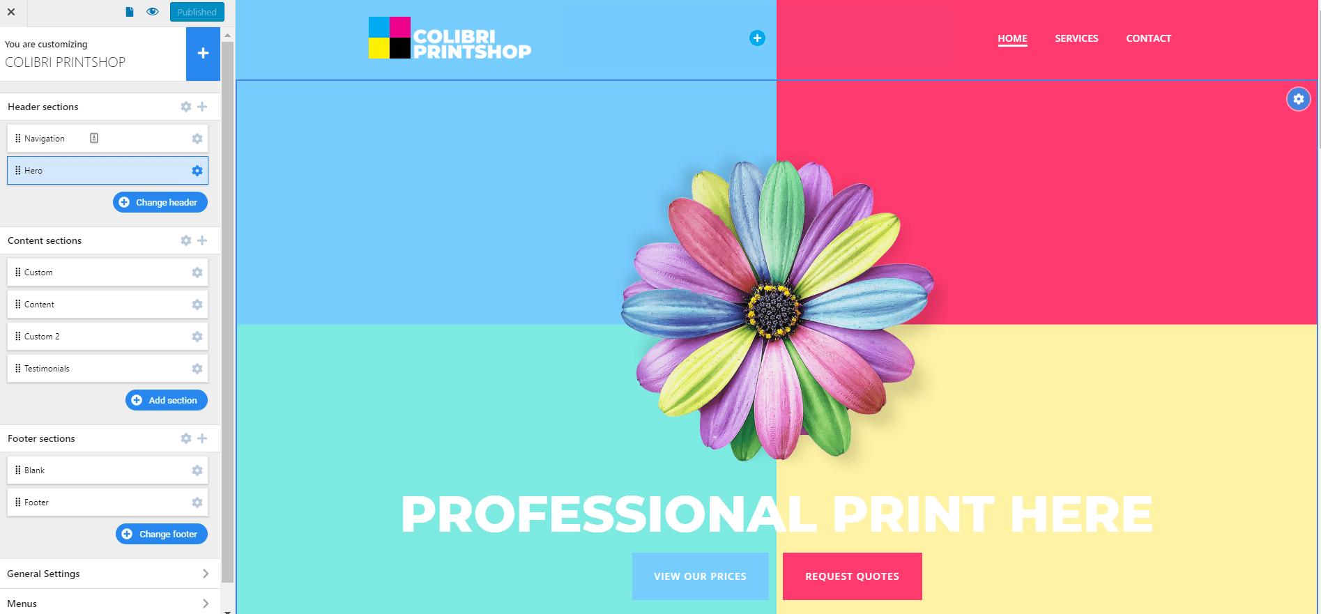 print shop website demo