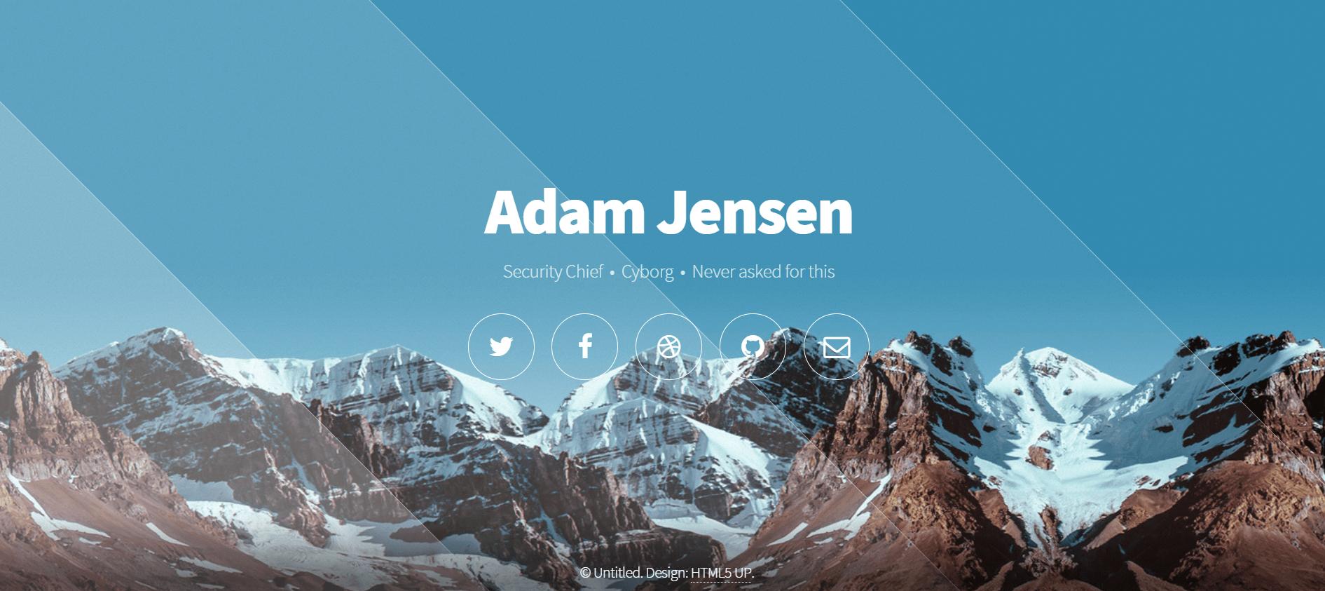 website design ideas - side scrolling image