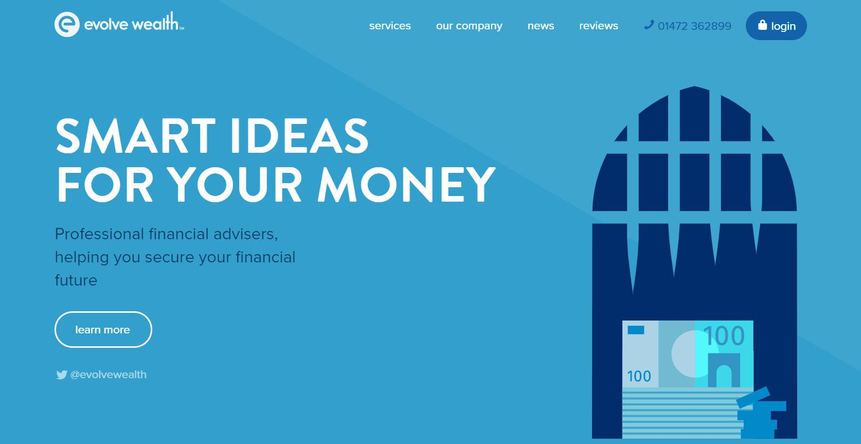 Blue color schemes financial