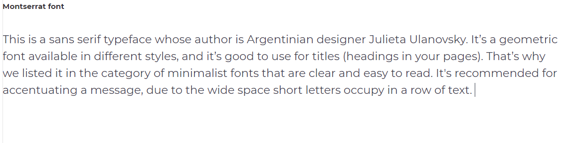Minimalist Website Fonts that Make Your Content Stand Out