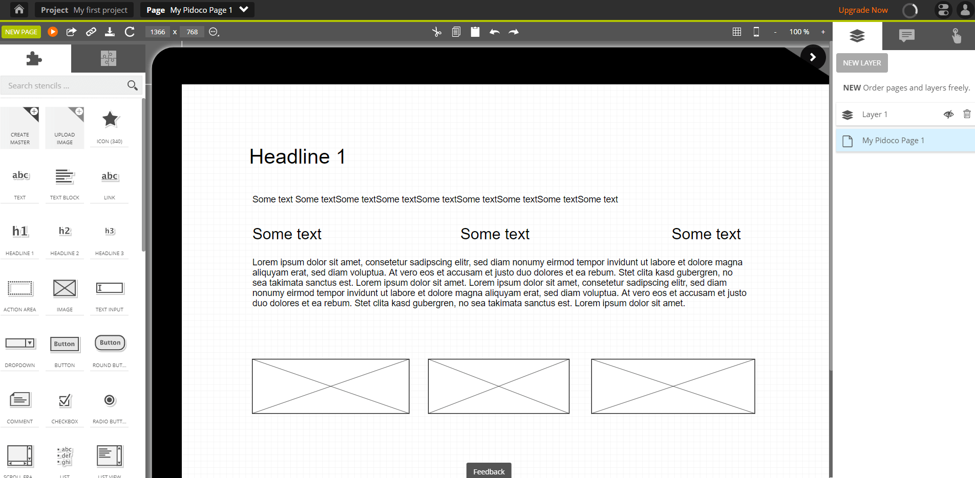 creating a website wireframe