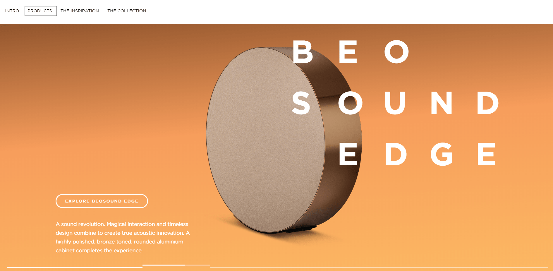 Beige color palette in website