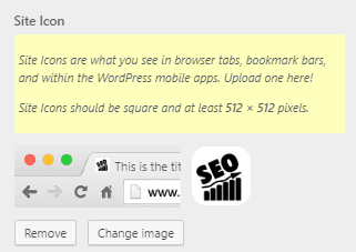 Add a favicon/site icon in a website built with ColibriWP