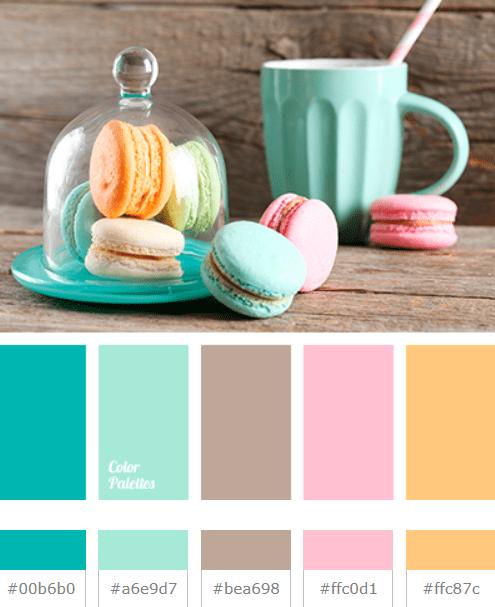 Mint color palette in site