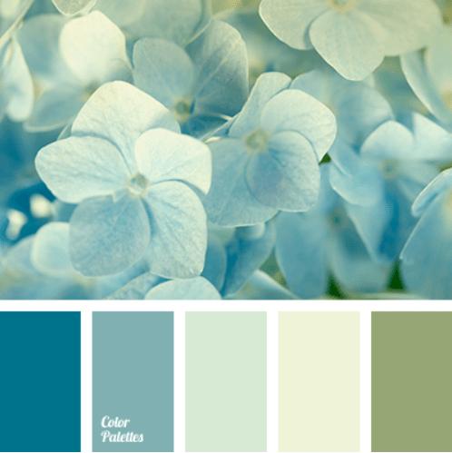 Florist's site - mint color palette