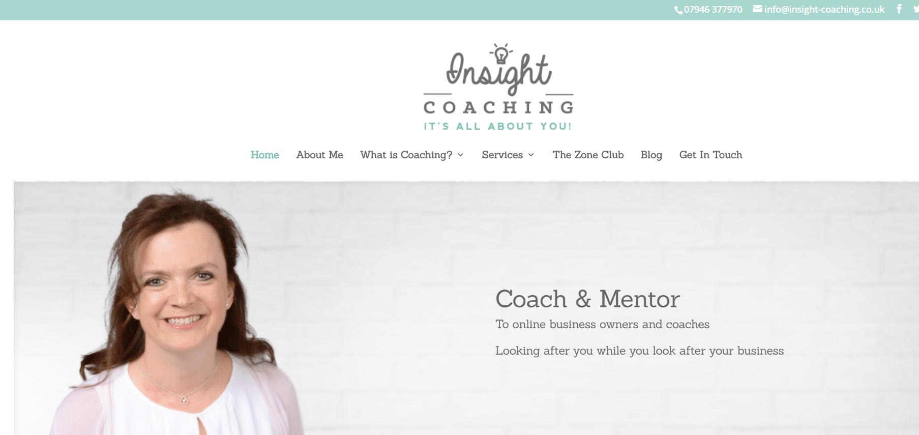 photos in coaching website