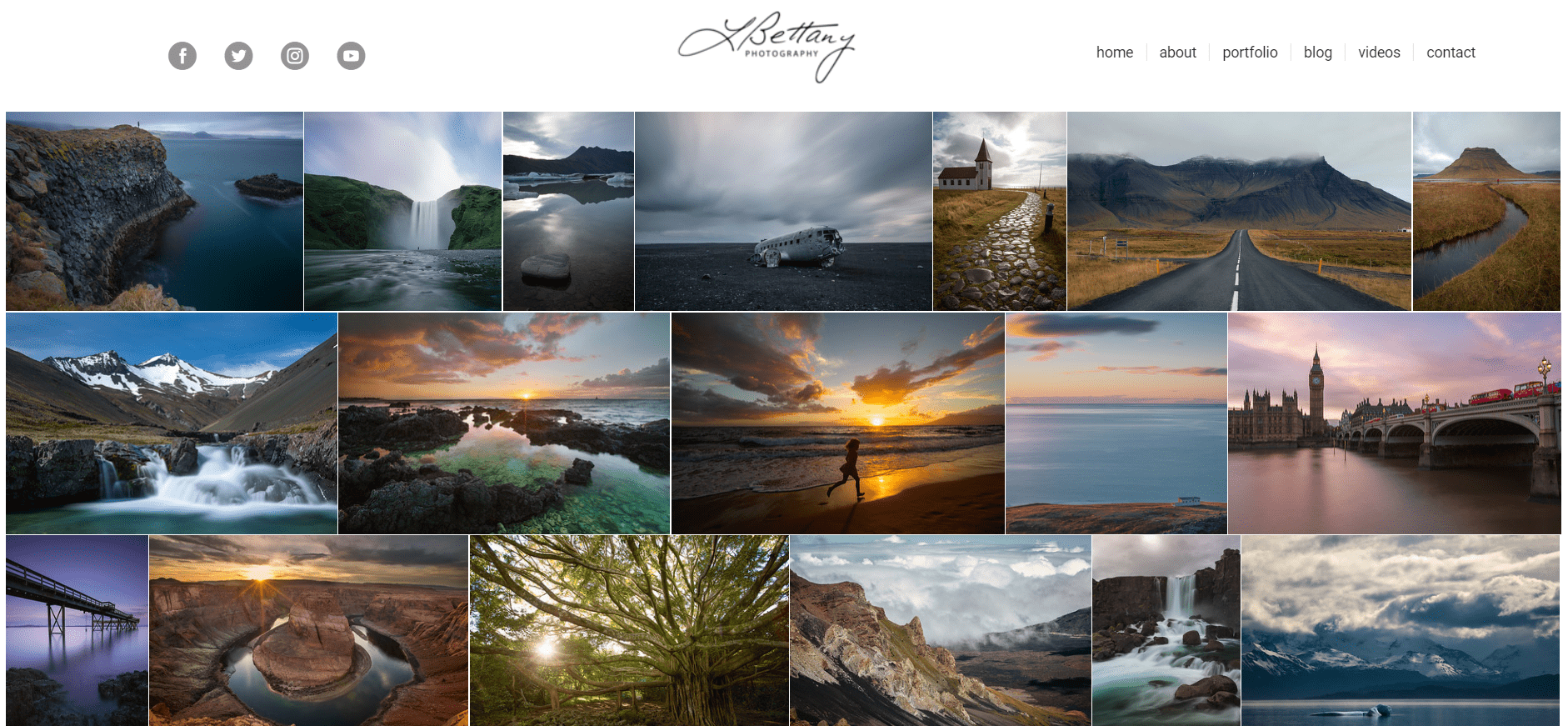 you can create a similar photograher website