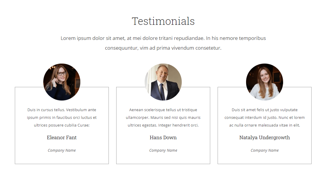 testimonials in photographer website