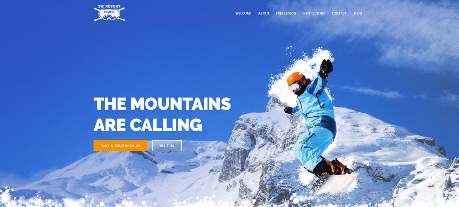 ski resort website demo