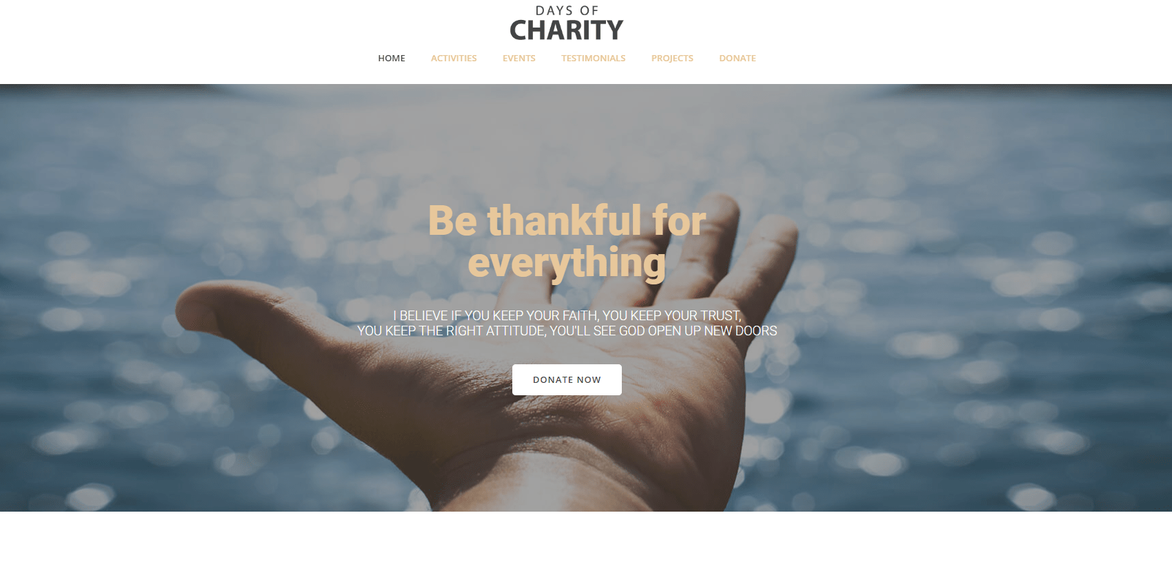 Hero Charity Websites