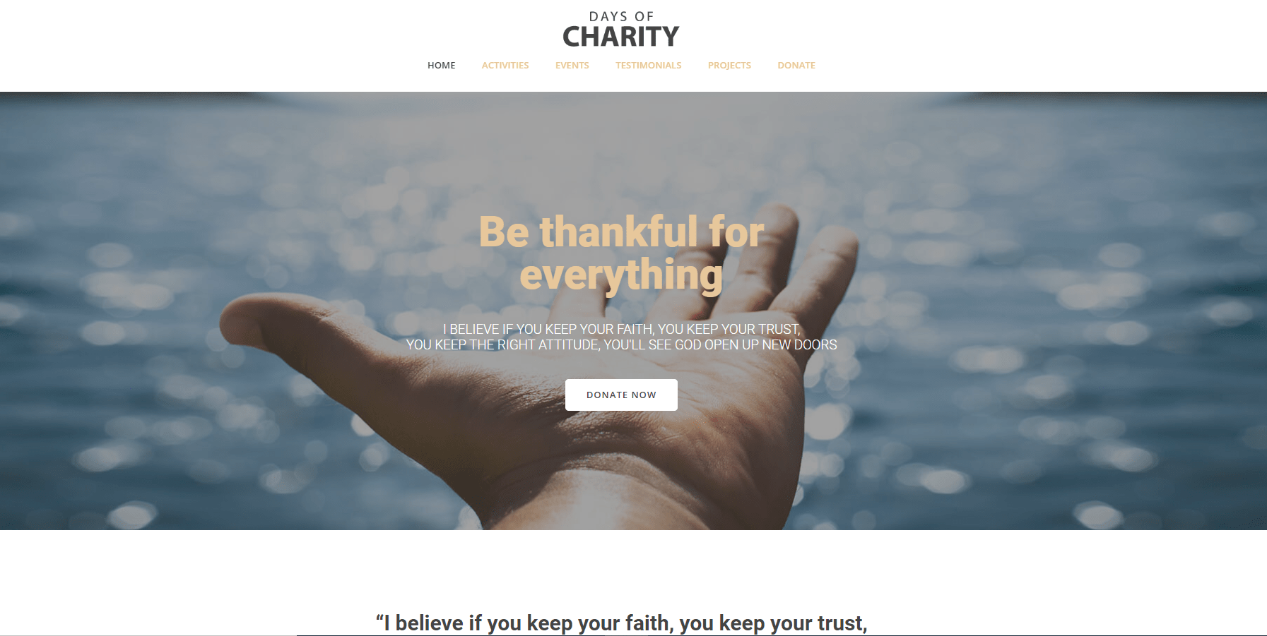Charity Websites