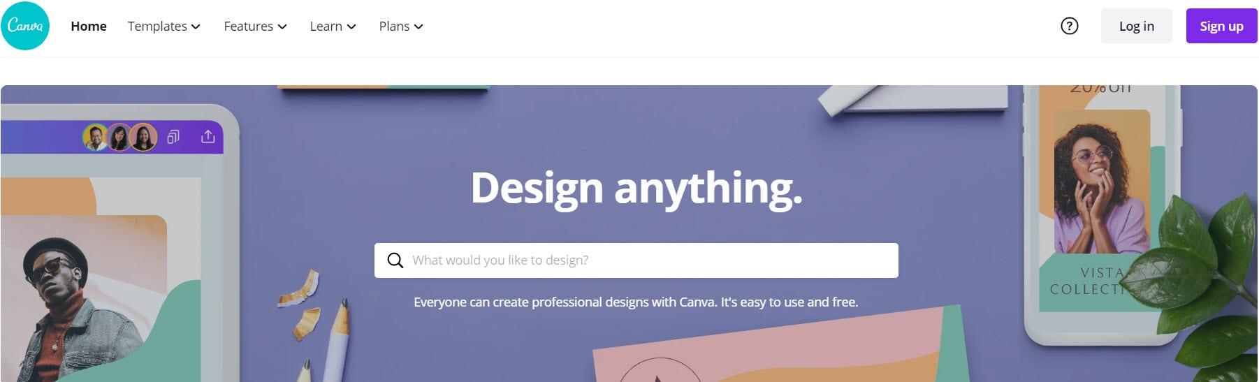Canva header design