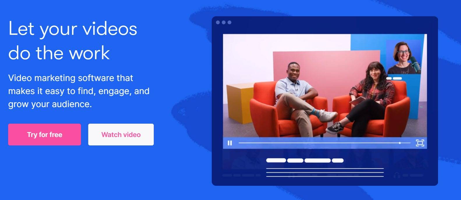 Wistia video in the header website section