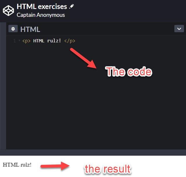 <p> HTML tags