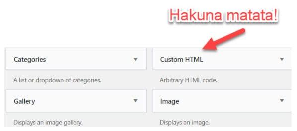 custom HTML WordPress sidebar widget