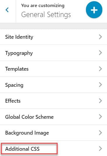 customize WordPress CSS