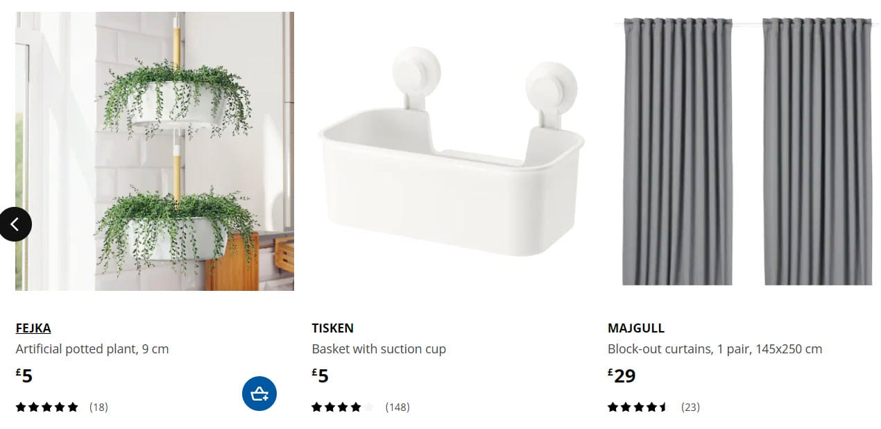 Ikea carousel example