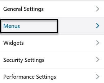 Menus in the WordPress Customizer