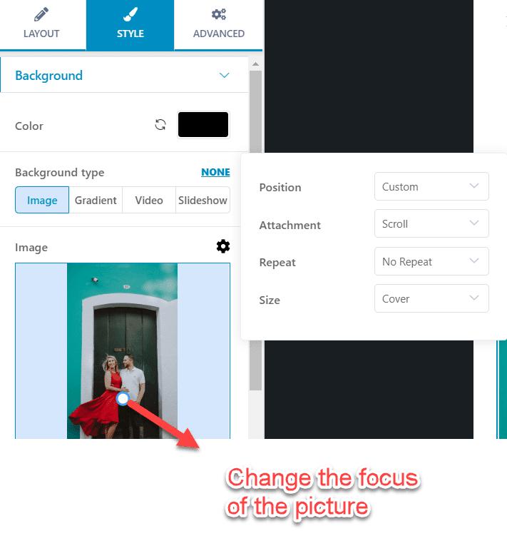 choose focus in picture