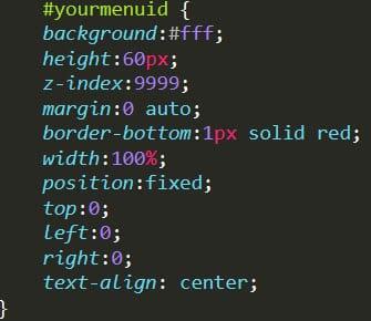 css styling - sticky WordPress menus