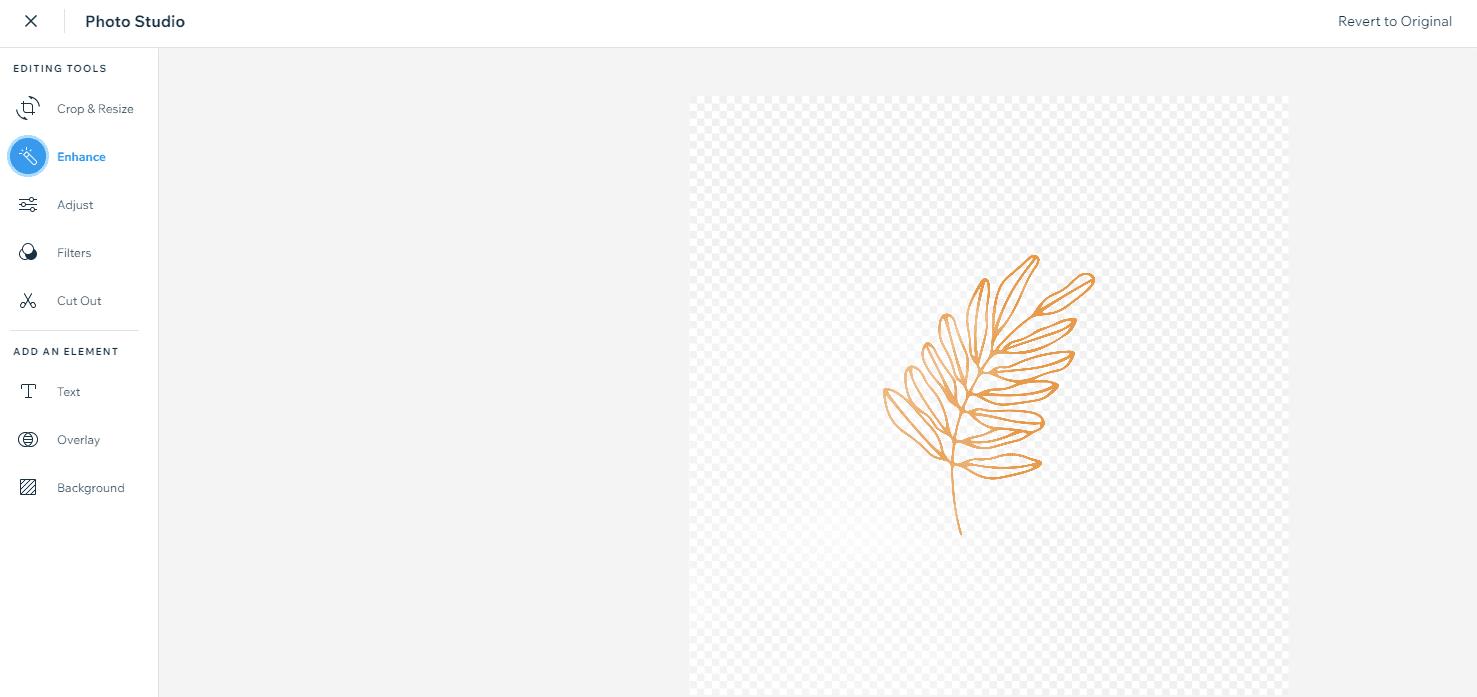 image enhancing in wix