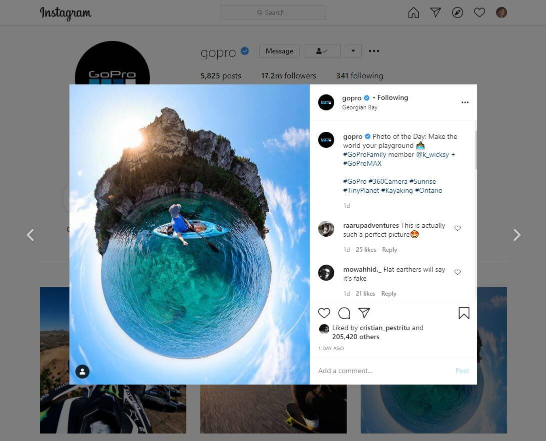 GoPro and hashtags