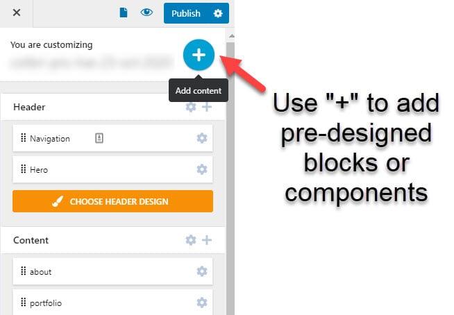 Add WordPress components