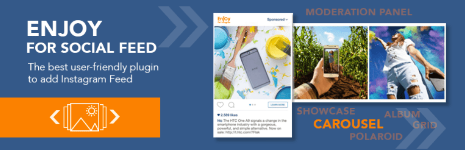 Enjoy WordPress Instagram widget