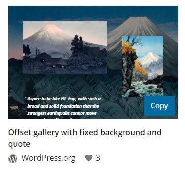 Copy the WordPress gallery pattern