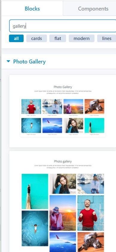 WordPress photo gallery block