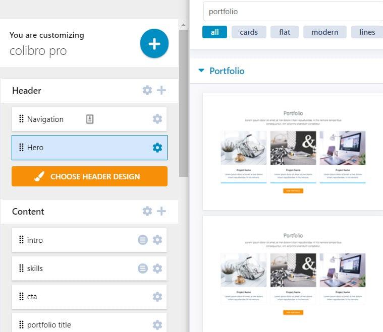 WordPress portfolio block