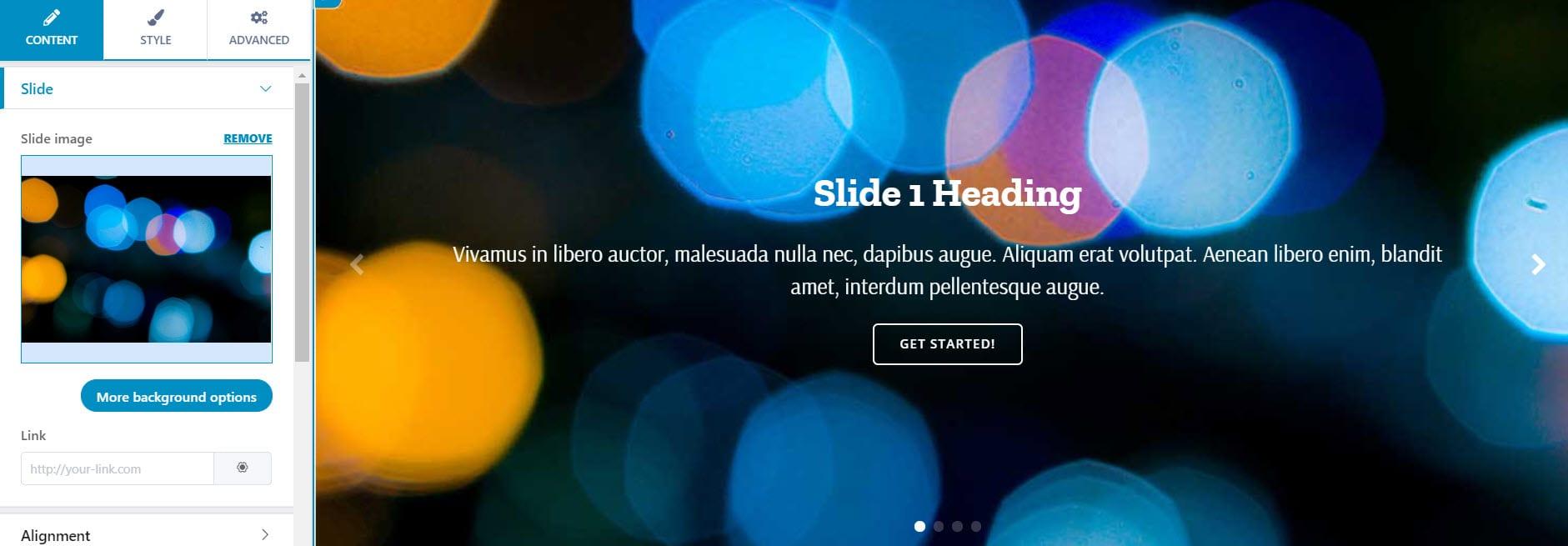 WordPress sliders can be used in website portfolios