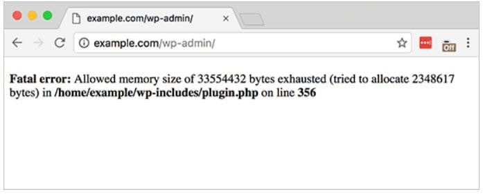WordPress Memory Exhausted