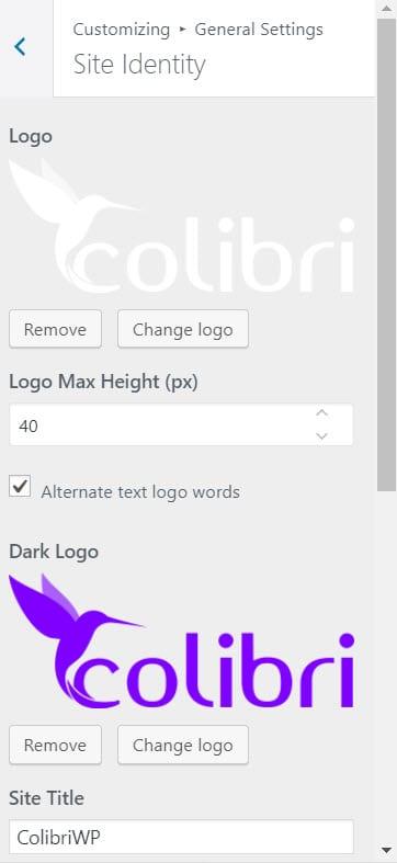 Change WordPress logo inside the Customizer