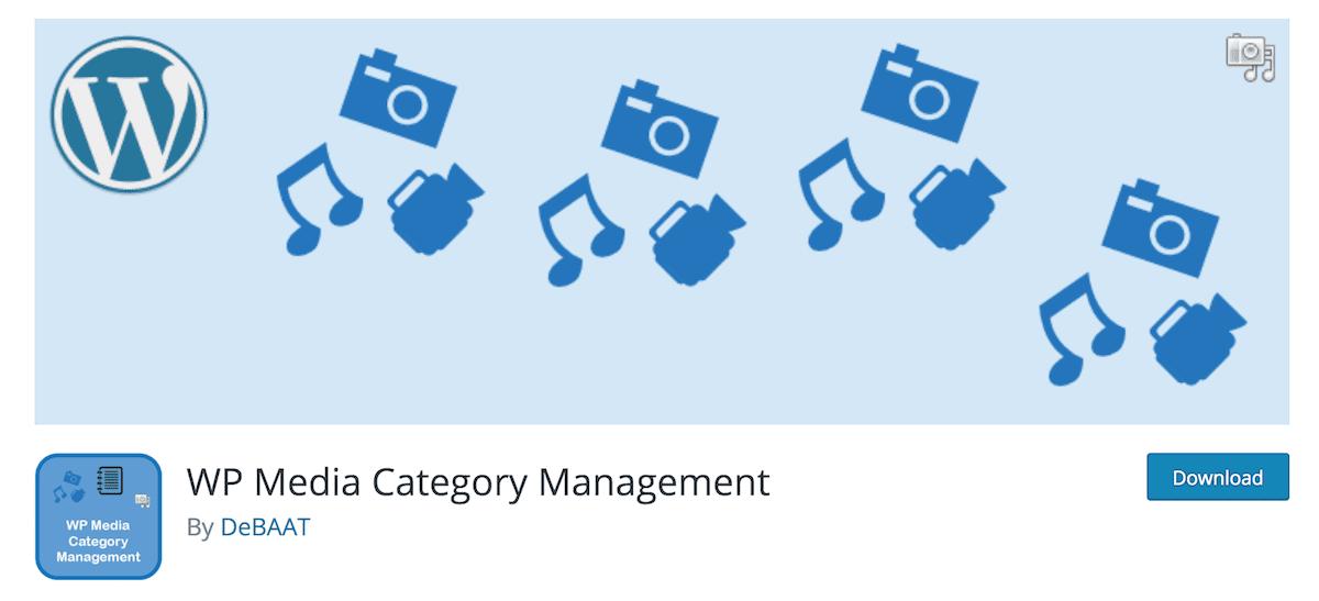 WP Media Category Management