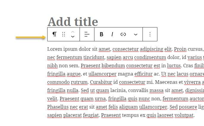 Basic text editing in Gutenberg