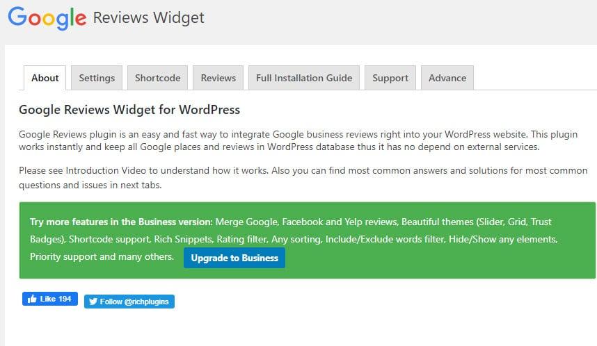 Configuring a WordPress plugin