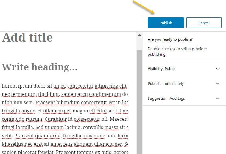 Publish a blog article
