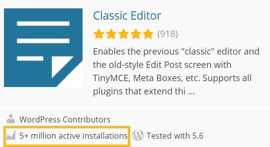 classic WordPress editor plugin
