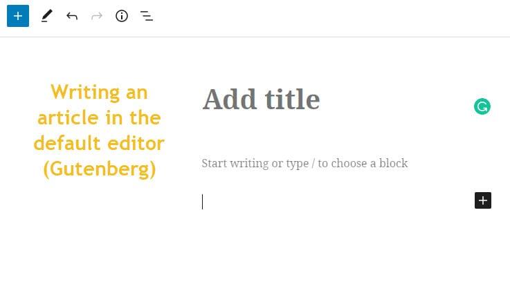 edit a post in Gutenberg