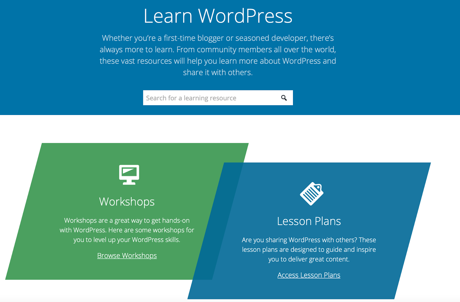 Learn with WordPress